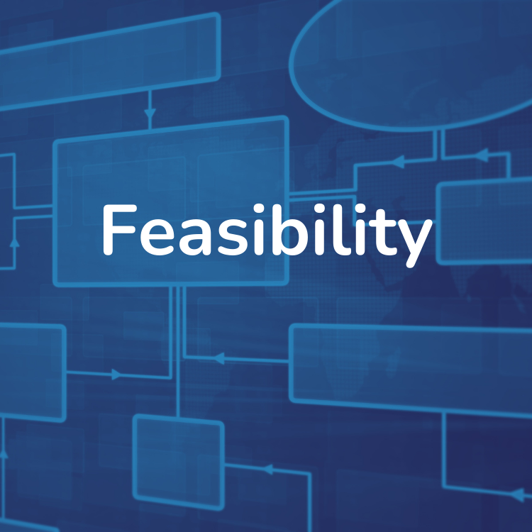 Flowchart graphic titled Feasibility